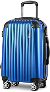 "Wanderlite 20"" Blue Luggage Suitcase Trolley Travel Hard Case Lightweight Blue"