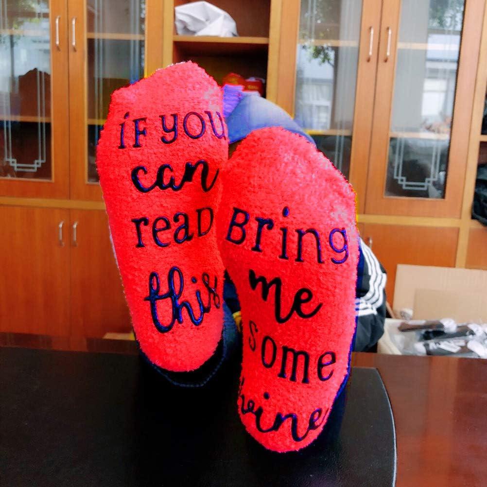 SUMAJU Cupcake Socks Funny Wine Socks with Cupcake Gift Wrap for Woman
