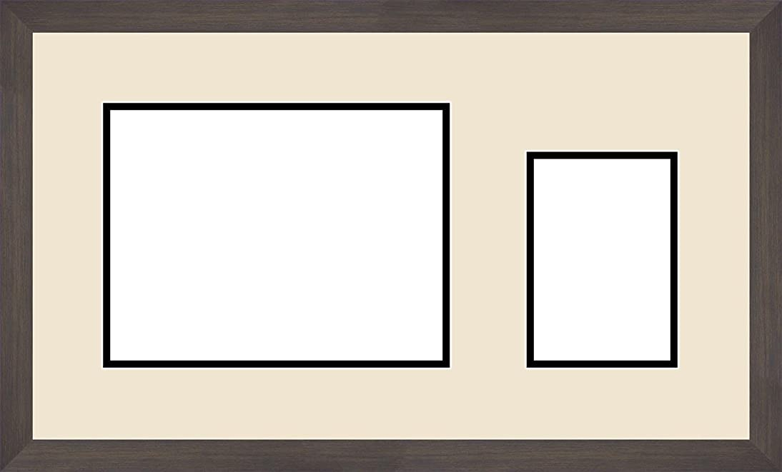 Art to Frames Double-Multimat-195-203/89-FRBW26061 22 by 12.5-Inch Picture Frame, 1.25-Inch Wide, Espresso