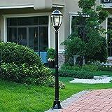 Continental Glass Lantern Lámpara de pie para Exteriores Impermeable 2 Luces Aluminio Villa Luces de jardín Luz de césped Luz de Hierba Columna de lámpara Poste Farola E27