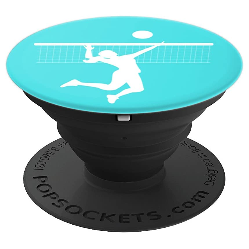 Volleyball Player Gift - Aqua - PopSockets Grip and Stand for Phones and Tablets