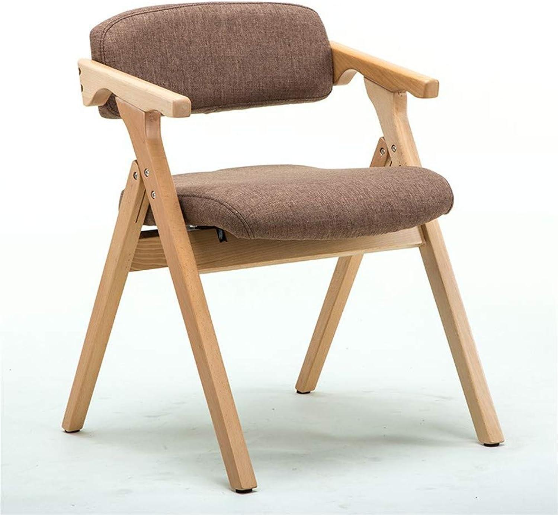 Deck Chair Portable Fashion Wooden Fold Armrest Backrest Chairhome Restaurant Coffee Kitchen Patio Chair,Brown