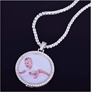 5b1a2252c MoCa Jewelry Personalized Custom Photo Medallions Necklace & Pendant 18K  Gold Silver Cubic Zircon Hip hop