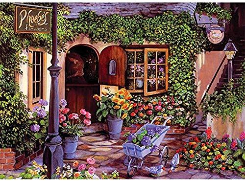 AQAAQ Jigsaw Puzzle 1000 Teile Schwieriges Rätsel Erwachsene Kinder Jugendliche Puzzle Klassisches Holzpuzzles Gartenhaus Einzigartiges Geschenk