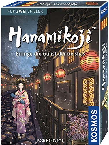 KOSMOS 692940 Hanamikoji - Das Duell um die Gunst der Geishas. Spiel für zwei Spieler, Kartenspiel mit einfachen Regeln