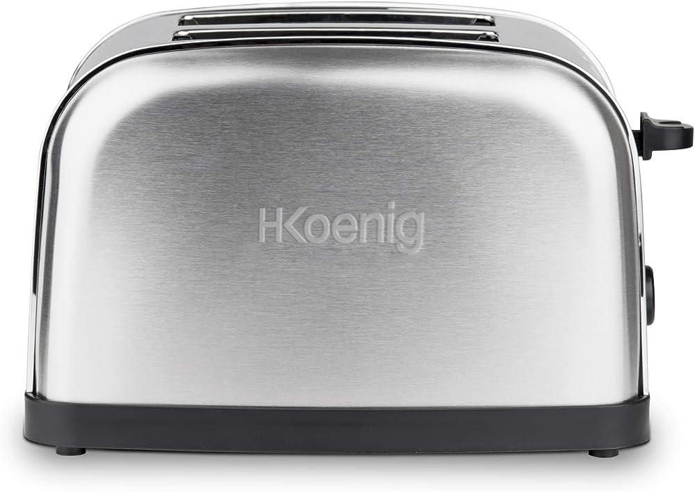 H.koenig ,tostapane, 850 w, acciaio inossidabile, 2 scomparti 80146