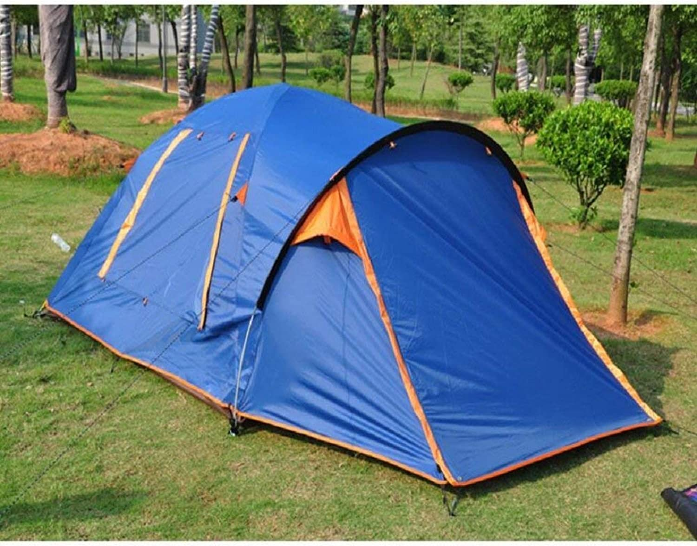 JIE Guo Outdoor Produkte 3-4 Personen Camping Zelte, One Bedroom Lobby Zelte, Familien Camping, Garten Freizeit Regen, Sun Zelte, einfach zu hochwertigen Zelte zu Bauen