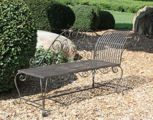 Garden Pleasure Metall Gartenbank Rost Optik - 2