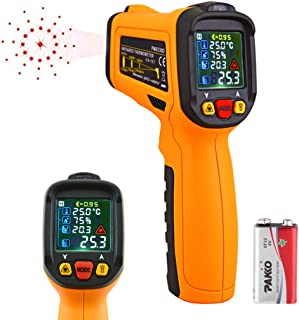 Laser Infrared Thermometer,HANMATEK Non Contact Temperature Gun Instant-Read -58 ℉to 1472℉with LED Display K-Type Thermocouple for Kitchen Cooking BBQ Automotive and Industrial PM6530D Thermometer