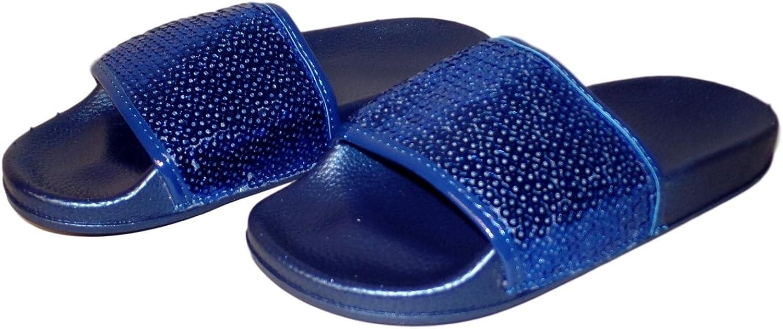 101 BEACH Women's Sequin Open Toe Slide Sandal Flip Flop