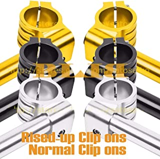 Occus Grips CNC Universal 36 mm for Kawasaki KZ550 KZ650 KZ750 KZ1000 KX250 KLX250 KH500 Clip On Handlebars Normal/Rised-up Handle Bars