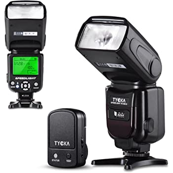 Tycka フラッシュ・ストロボ スピードライト 2.4Gトリガーリモート LCDディスプレイ 過熱保護 標準的なホットシュー付き Canon Nikon Sony Panasonic Olympus Pentax DSLRカメラ対応