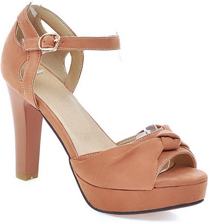 BalaMasa Womens Sandals High-Heels Huarache Urethane Sandals ASL04811