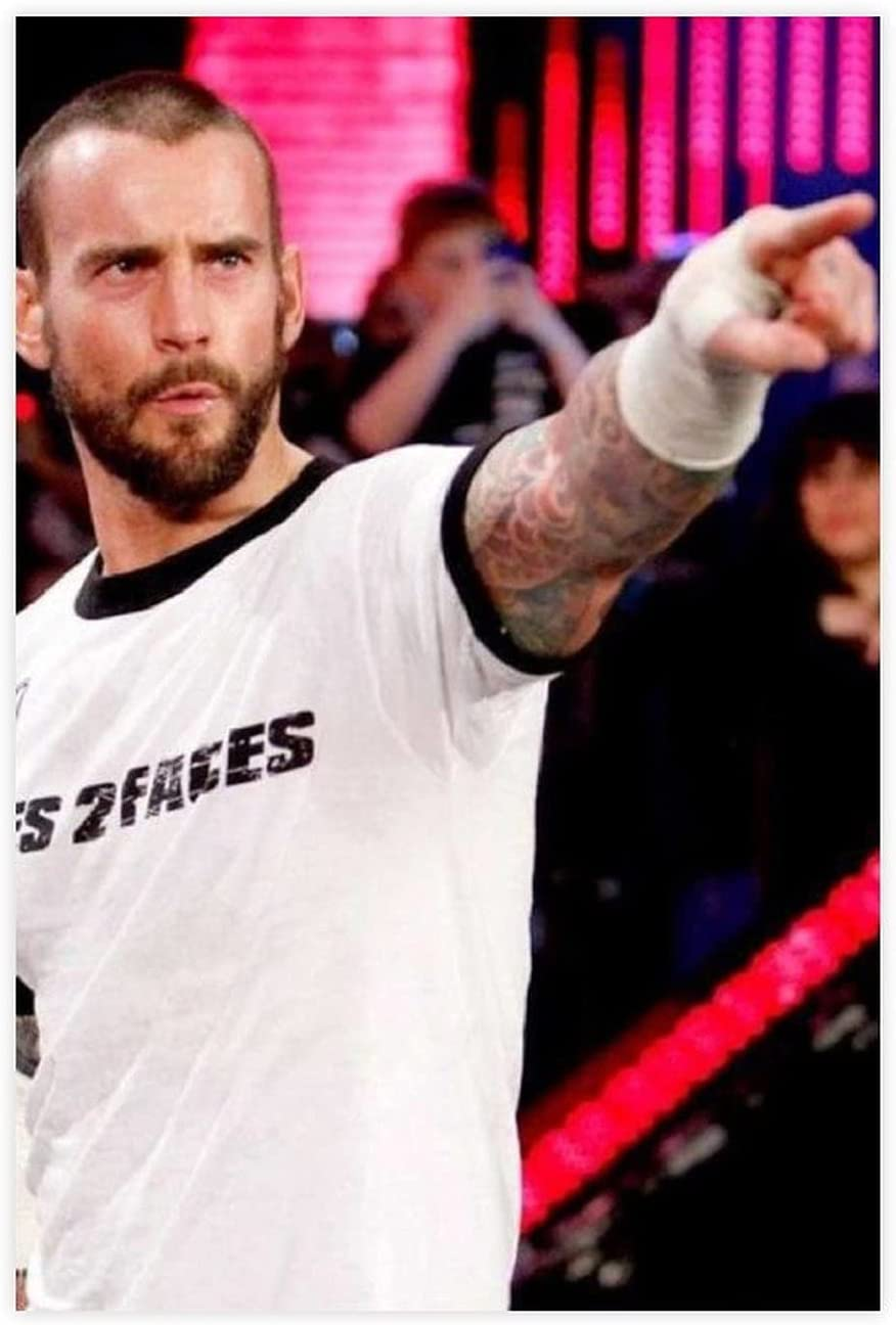 Famous Professional Wrestler CM Punk Idol Canvas Pop Poster P Indianapolis Mall 24 At the price of surprise