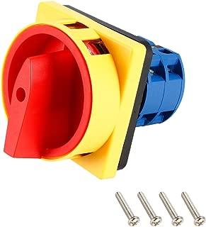sourcing map Interruptor de cambio de posici/ón de 2 Ui de enclavamiento Selector Giratorio 550V 20A Ith
