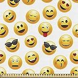 ABAKUHAUS emoticon Gewebe als Meterware, Lächelnde