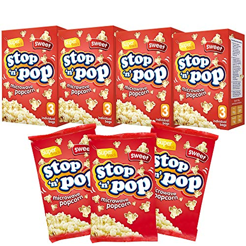 Stop n Pop Microwave Sweet Popcorn | Whole Grain Kernels | Super Snack for The Family