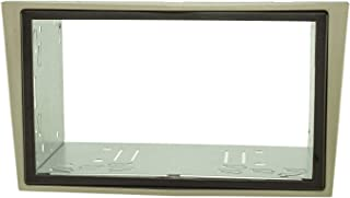 tomzz Audio 2439 140 Doppel DIN Radioblende Set Kompatibel mit Opel Antara Astra H Zafira B Corsa D Tigra Satin Stone mit Einbaukit