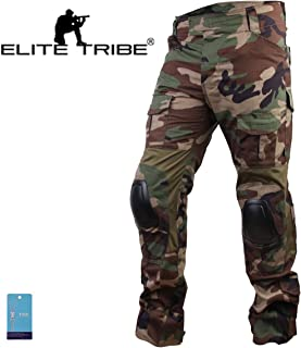 Paintball Equipment Men Airsoft Hunting Combat BDU Pants Gen3 Tactical Pants with Knee Pad Woodland