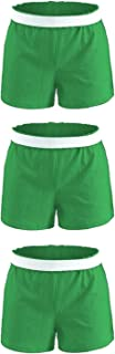 Soffe Girls' Authentic Cheer Short, Kelly Green, Small (3-Pack)