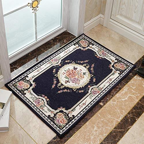 Ahuike Waterabsorberende badkamer tapijt matten deurmatten pads jacquard stofzuiger wasbaar tapijt badmat voor wastafel toilet marine 120 × 160cm