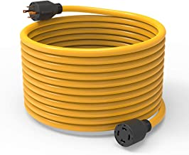 BougeRV 40 Feet Nema L14-30 Generator Power Cord Heavy Duty Electric Extension Wire 4 Prong 10 Gauge SJTW Cable 125/250V 30 Amp 7500 Watts L14-30P / L14-30R