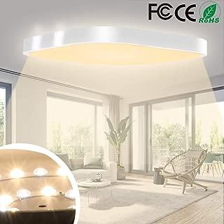LED Ceiling Light 24W 3000K 1920LM Ceiling Lighting Kitchen Bathroom Bedroom Living Room Office Restroom 45 45cm