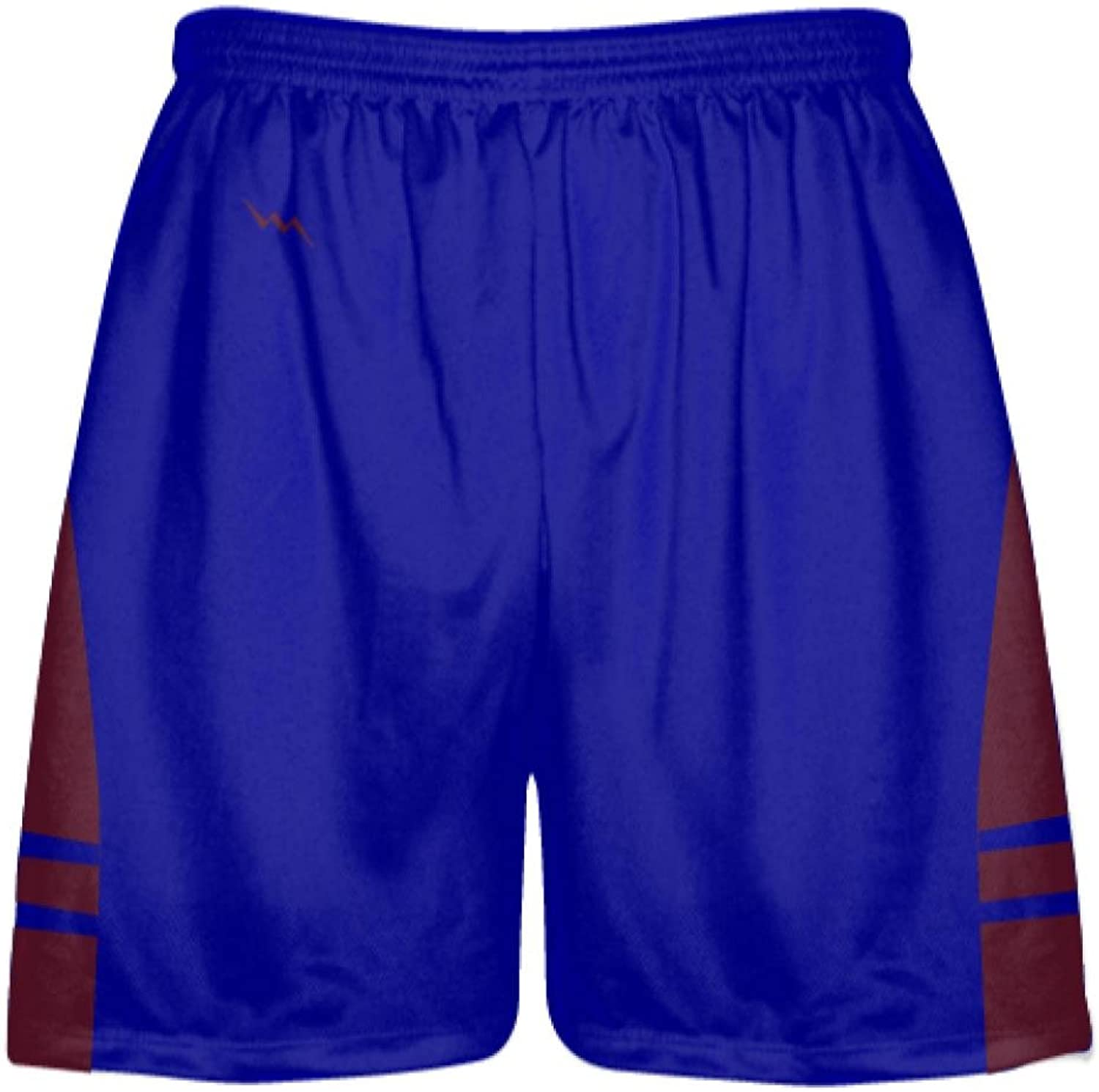 LightningWear Youth Royal blueee Maroon Lacrosse Shorts OG  Lax Shorts Mens Boys Youth, Royal blueee