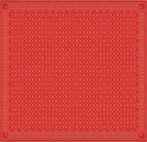 Ekelund tischdecke attebladrose 33 150 x 150 cm 55% Bio-Baumwolle 45% Bio-leinen