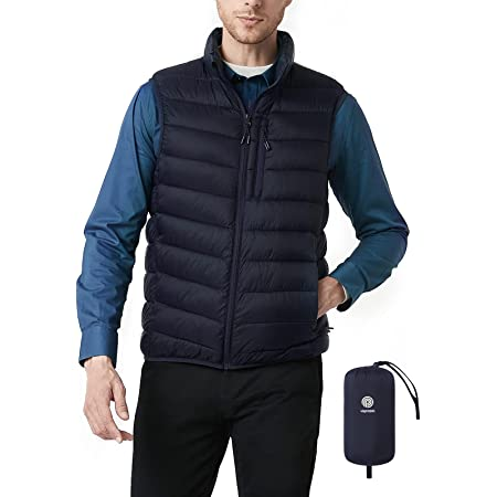 LAPASA Men's Puffer Vest with Recycled Polyester filling Eco-Friendly Water-Resistant Packable M70