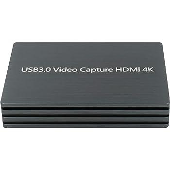 HDMI to USB3.0ビデオキャプチャコンバーター4K ビデオライブストリーミングスクリーンレコーダーデバイス for Windows, Linux, Mac OS X