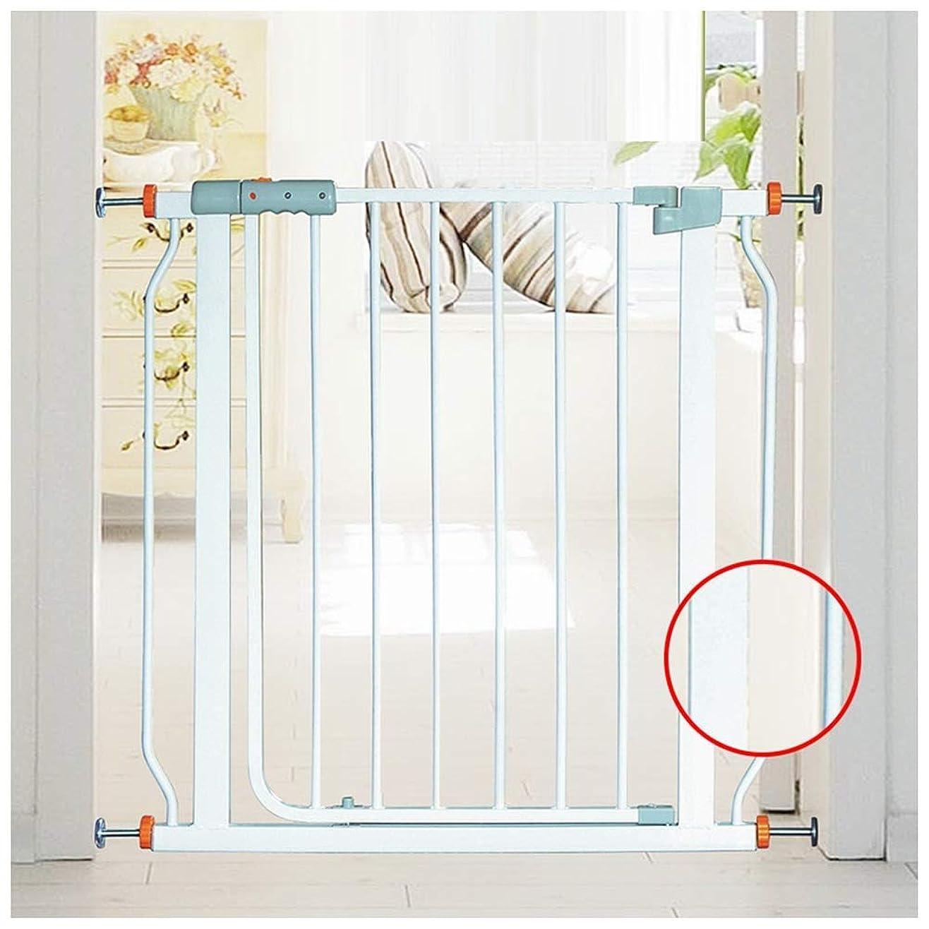 矛盾する推測沈黙赤ちゃんの安全ゲート反力インストールペットの犬の階段ゲート保護壁セキュリティフェンスドア安全分離ドア、マルチサイズ(色:白、サイズ:W 223-230cm)