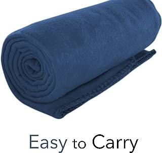 Micro World Cozy 50 X 60 Fleece Throw Blanket -Navy