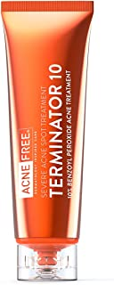 Best Acne Free Terminator 10 Acne Spot Treatment with Benzoyl Peroxide 10% Maximum Strength Acne Cream Treatment, 1 Ounce - Pack Of 1 Review