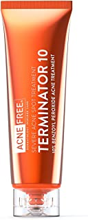 Acne Free Terminator 10 Acne Spot Treatment with Benzoyl Peroxide 10% Maximum Strength Acne Cream Treatment, 1 Ounce - Pack Of 1
