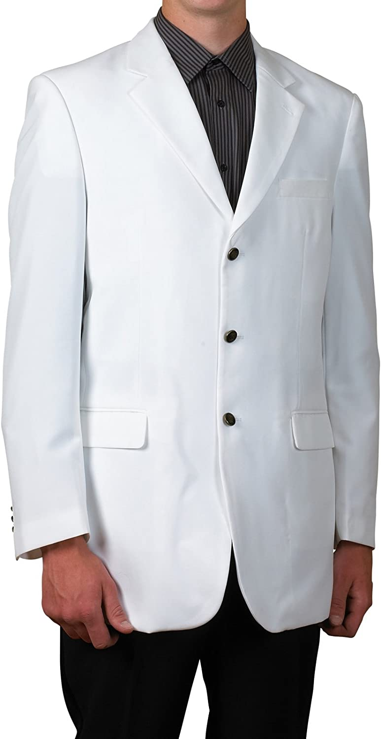 New Mens 3 Button Single Breasted White Blazer Sportcoat Suit Jacket