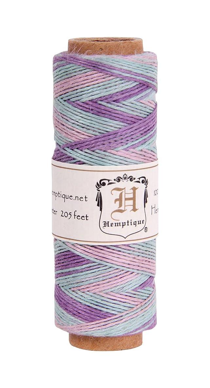 Hemp Cord Spool Variegated 10# 205 Feet/Pkg-Pastel