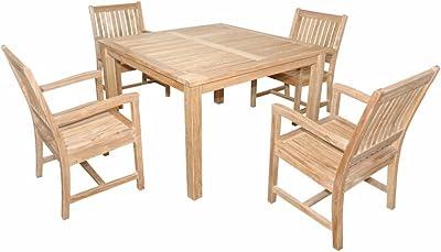 Admirable Amazon Com Vifah V1300Set12 Outdoor Patio 7 Piece Dining Machost Co Dining Chair Design Ideas Machostcouk