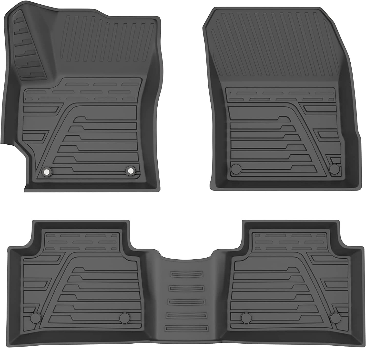 MOSTPLUS All-Weather Rubber Seat TPE Compatib Liners Fashionable Floor Credence Mats