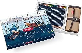 Derwent Colored Pencils, Watercolor, Water Color Pencils, Drawing, Art, Gift Set Pencil Wrap, 24 Count (2302588)
