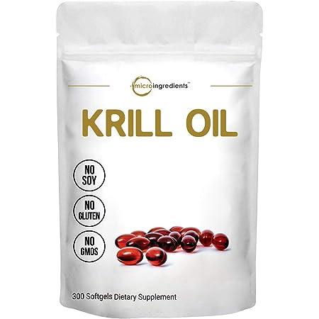 Antarctic Krill Oil Supplement, 1000mg Per Serving, 300 Soft-Gels, Rich in Omega-3s EPA, DHA & Astaxanthin, Supports Immune System & Brain Health, Premium Krill Oil Capsules Liquid Softgels