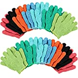 Duufin 14 Pairs Exfoliating Glove Bath Gloves Shower Body Scrubbing Gloves for Shower, Spa, Massage and Dead...