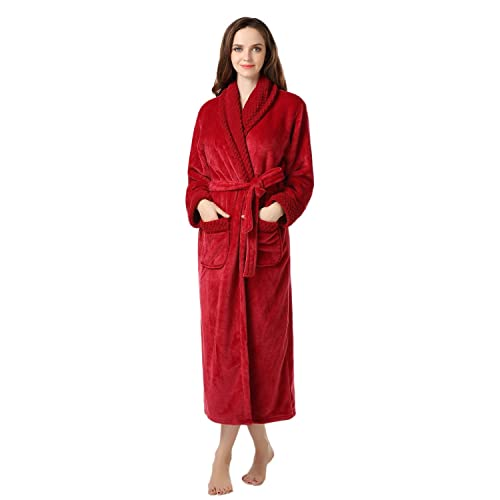 153ea47a67 Richie House Women s Plush Soft Warm Fleece Bathrobe Robe RH1591