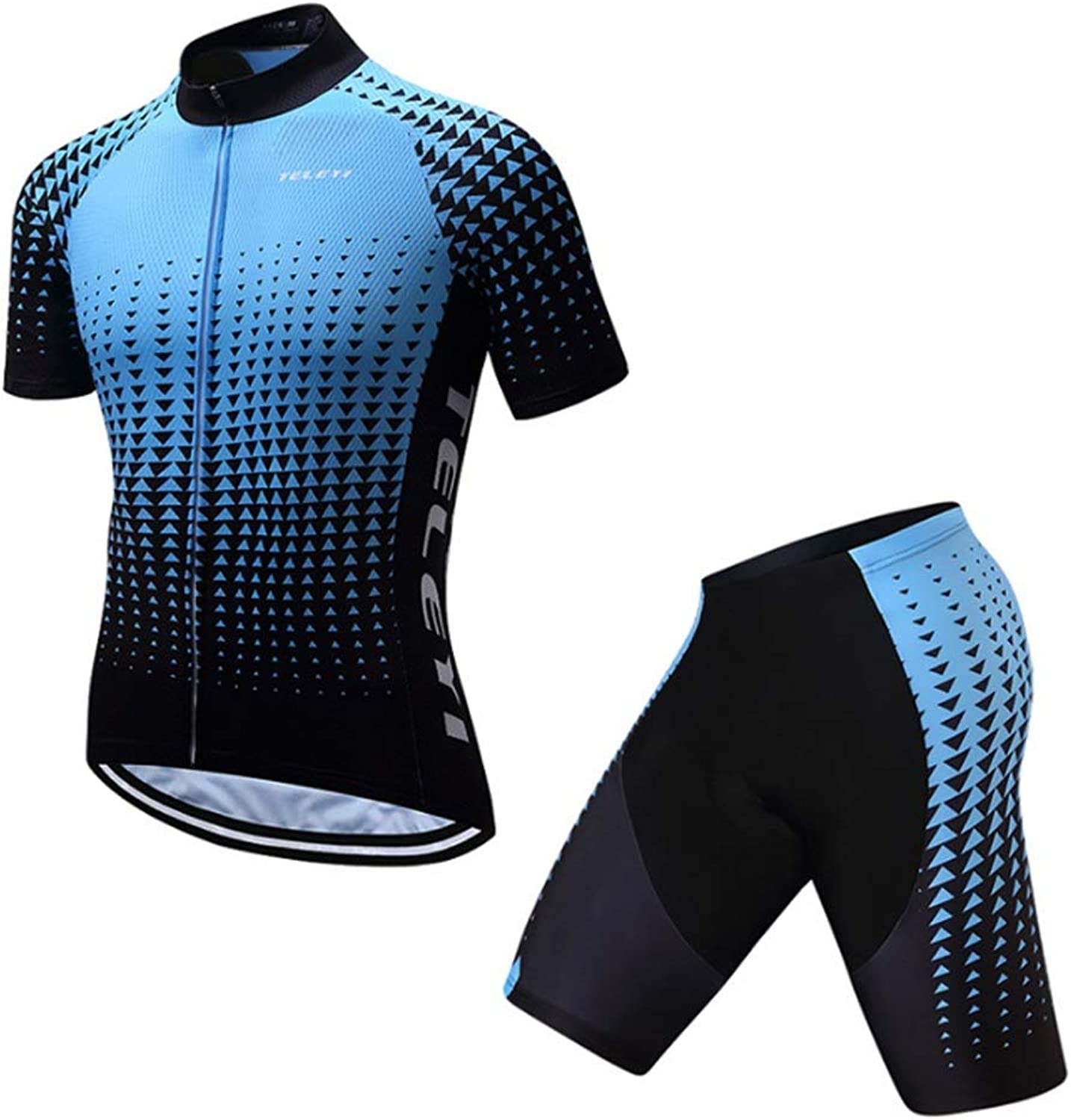 Cycling Jersey Suit ShortSleeved Mountain Bike Riding ShortSleeved Breathable Zipper Jersey