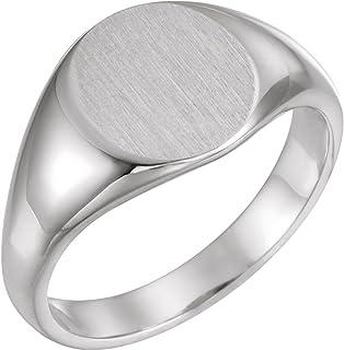 FB Jewels 925 خاتم من الفضة الإسترلينية 12.5 × 10.5 مم للرجال مع الانتهاء من فرشاة الحجم 10