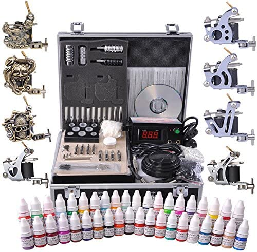 CHIMAERA Professional 40-Ink Tattoo Kit Eight and with Max 56% Spring new work OFF Guns 8