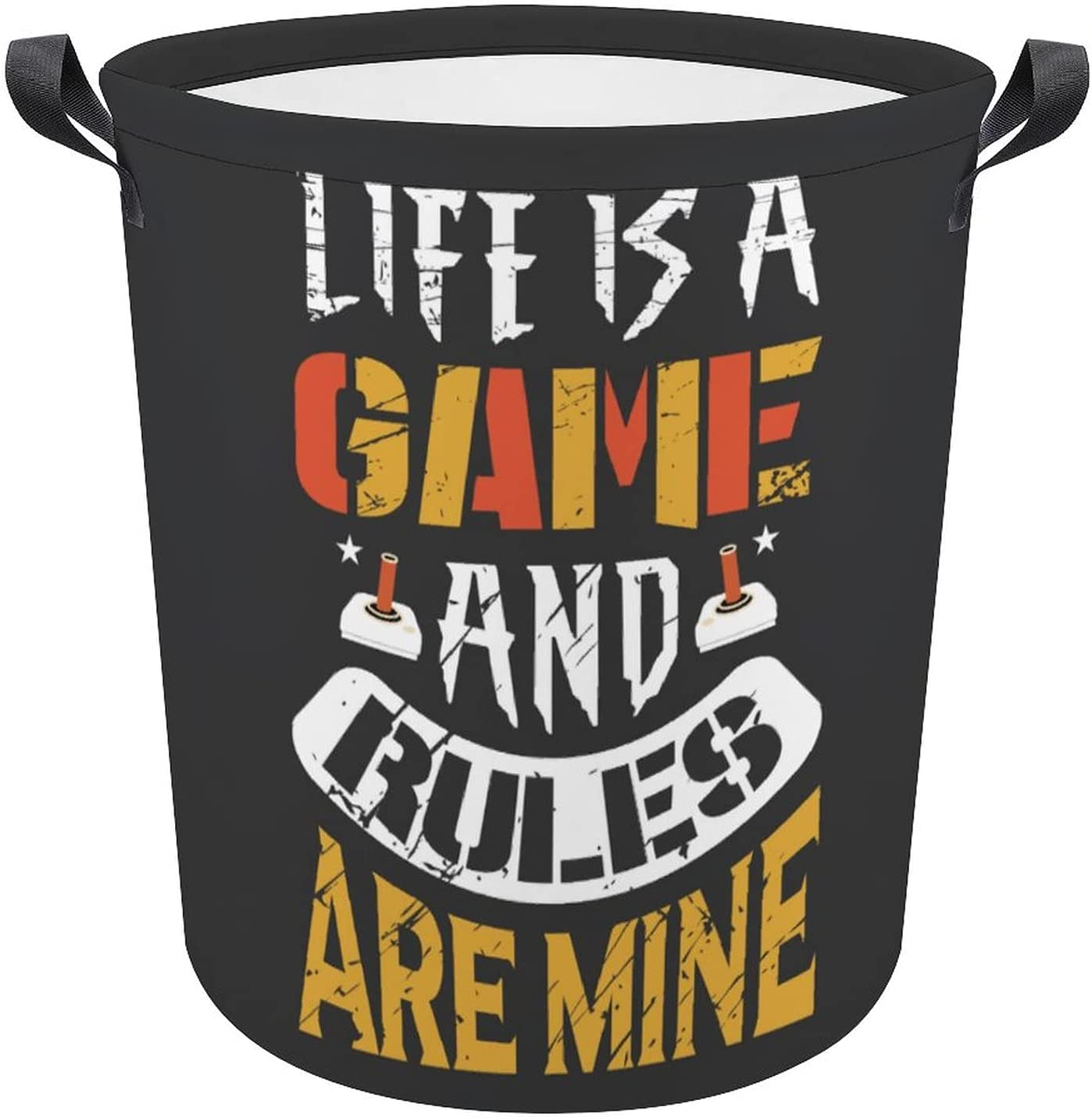 Life Is A Game Funny Gamer Laundry Por Saying Weekly update Selling and selling Hamper Gift Oxford