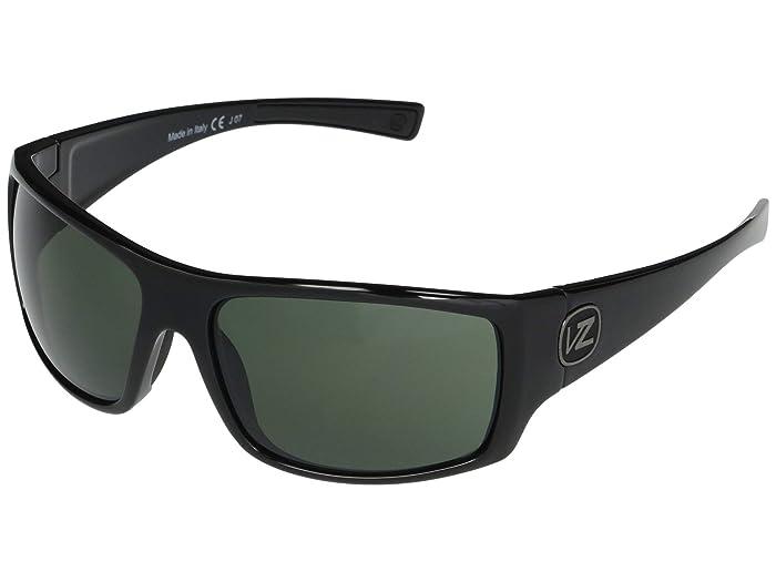 VonZipper  Suplex (Black Gloss Vintage Grey) Fashion Sunglasses