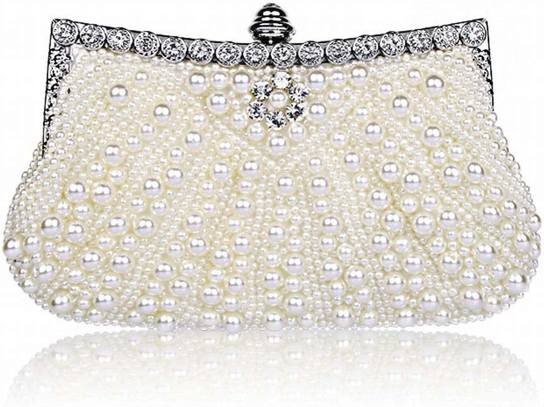 Ovesuxle Damen Abendtasche Perlen Pailletten Designer Clutch Handtasche (Farbe   Weiß) B07QF5K1SC  Neue Sorten werden eingeführt