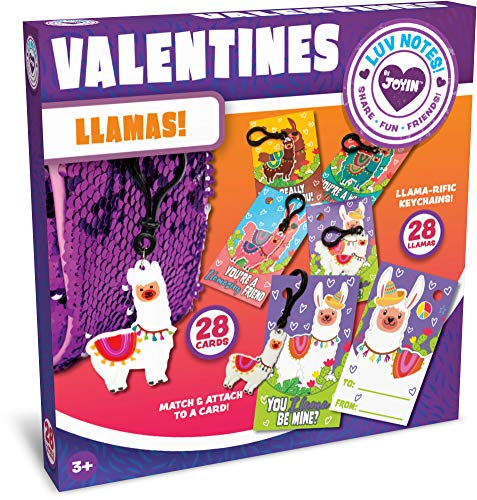 Buy JOYIN 28 Pack Valentines Day Gifts Cards for Kids with Llama Key Chain for Valentine's Classroom...